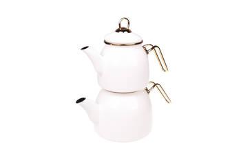- Sultan Çaydanlık Takımı - Krem Bambum