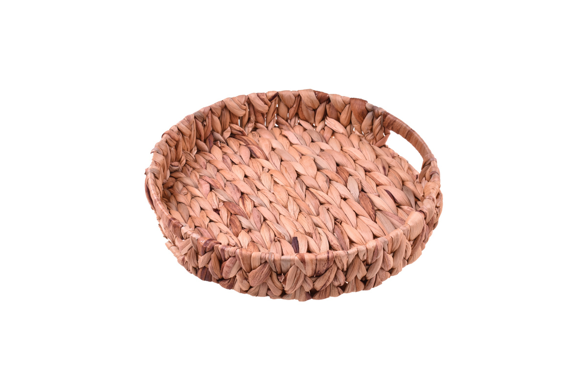 Tenen Hasır Tepsi Yuvarlak 30 cm Bambum