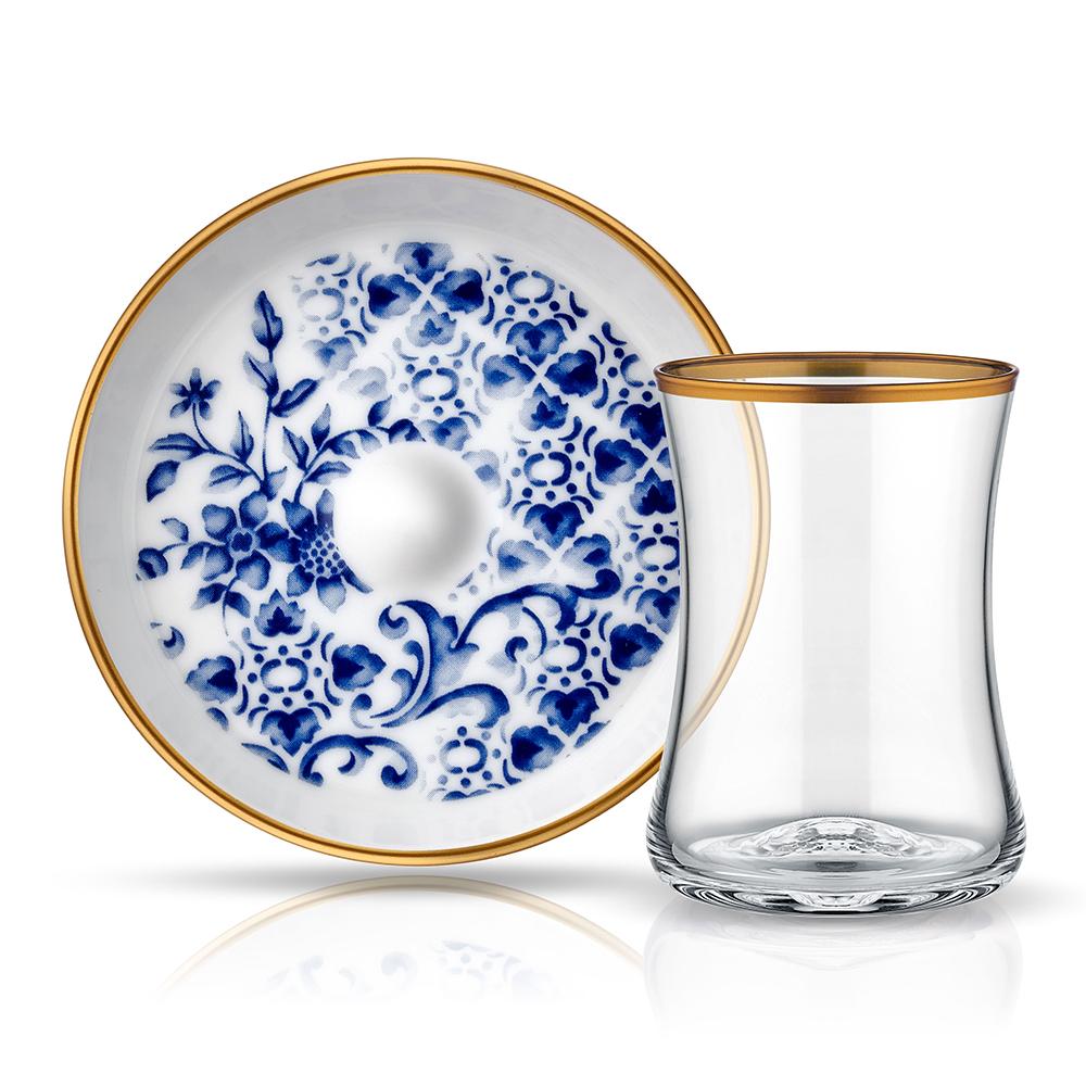 Tiryaki 6'Lı Çay Seti-Meltem