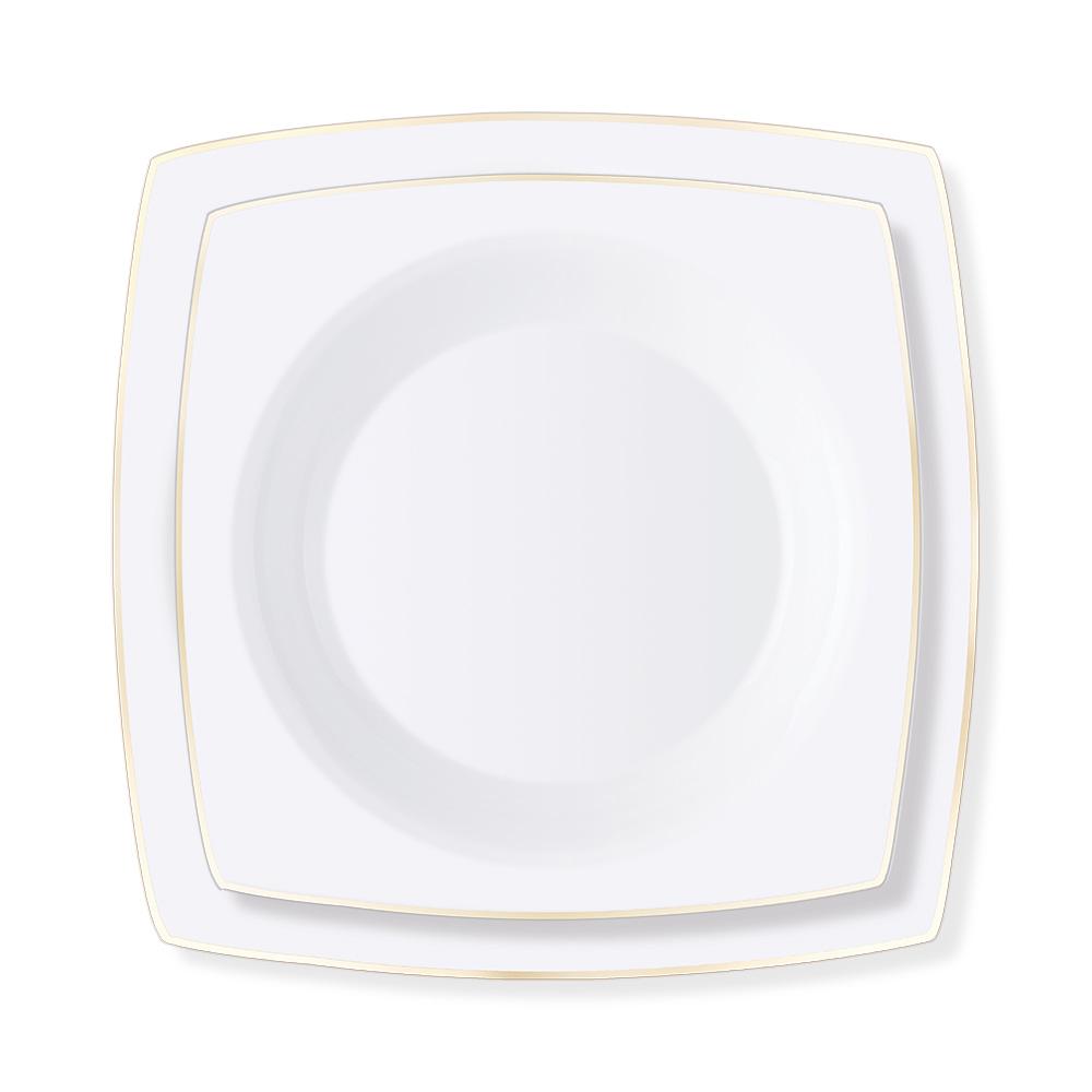 Twinkle Gold Square 57 Parça Yemek Takımı