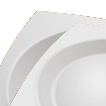 Twinkle Gold Square 12 Kişilik 57 Parça Bone China Yemek Takımı - Thumbnail