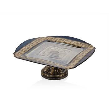 Biev - Versace Ayaklı Servis Tabağı - 34 cm