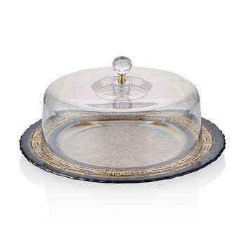 Biev - Versace Kapaklı Kek Fanusu - 33 cm