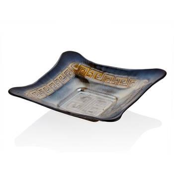 Biev - Versace Kare Servis Tabağı - 30 cm