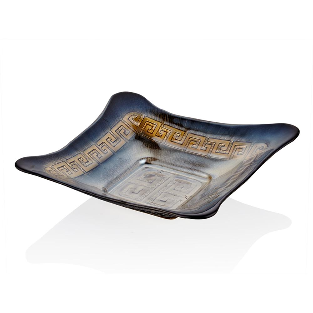 Versace Kare Servis Tabağı - Siyah 30 cm