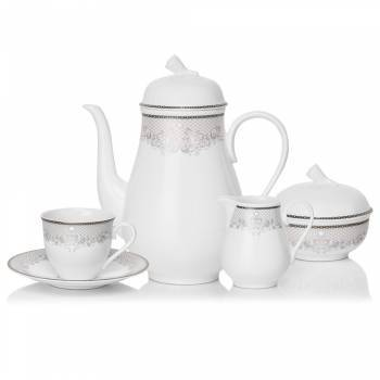- Victorian Lace Platin 29 Parça Çay Takımı