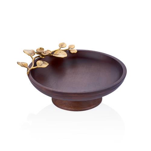 Viera Koyu Ahşap Ayaklı Kek Standı - 26,5 cm