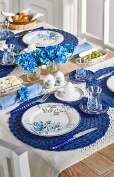 - Vintage Blue 33 Parça Kahvaltı Takımı