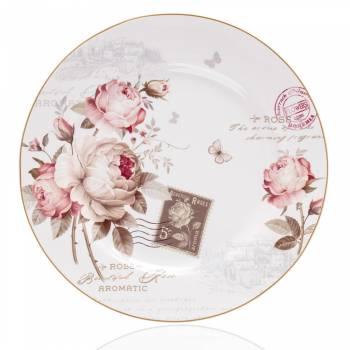 Vintage Rose 6 Kişilik 21 Parça New Bone China Kahvaltı Takımı - Thumbnail
