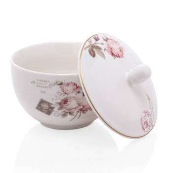 - Vintage Rose 6 Kişilik 21 Parça New Bone China Kahvaltı Takımı (1)