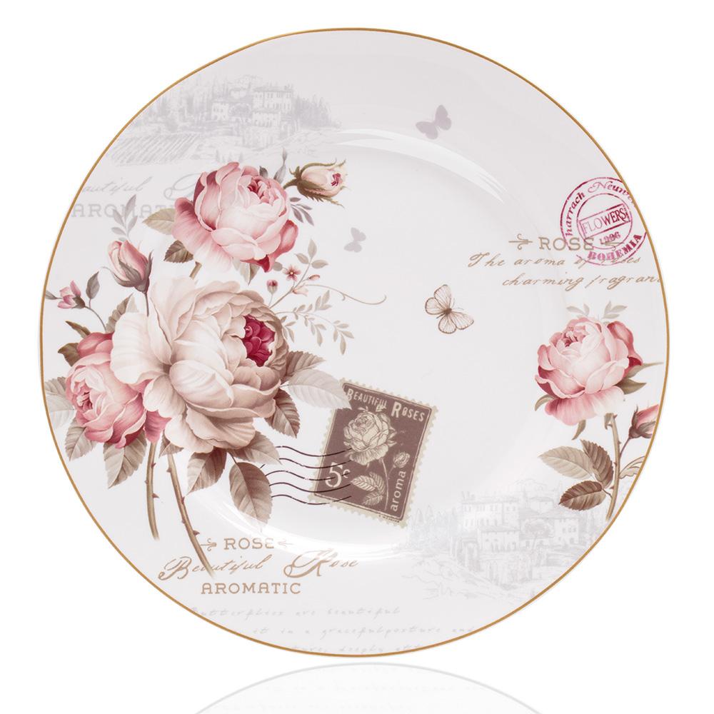 Vintage Rose 6 Kişilik 21 Parça New Bone China Kahvaltı Takımı