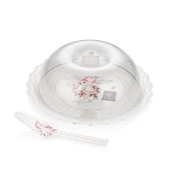 Vintage Rose Spatulalı Kek Fanu