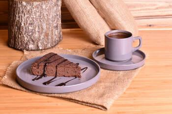 Wally 18 Parça Pasta Seti - Gri Bambum - Thumbnail