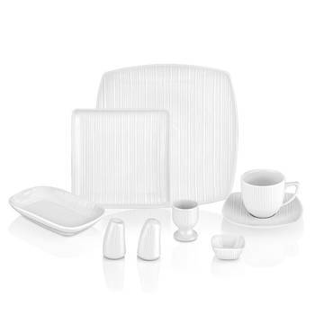 Bernardo - White 6 Kişilik 36 Parça Porselen Kahvaltı Takımı