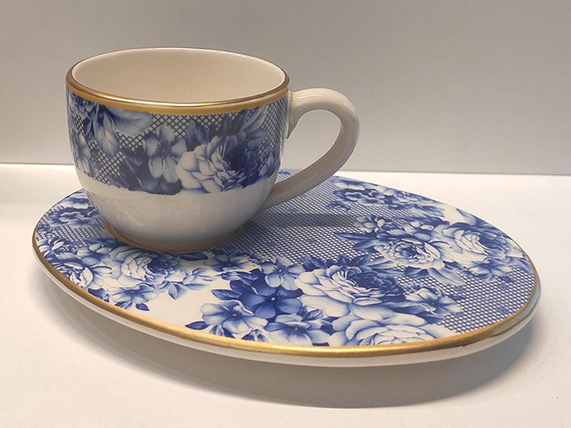 Wındsor Blue Beyaz 6'lı Kahve Fincan Takımı