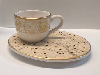 - Wındsor Lıght Grey 6'lı Kahve Fincan Takımı