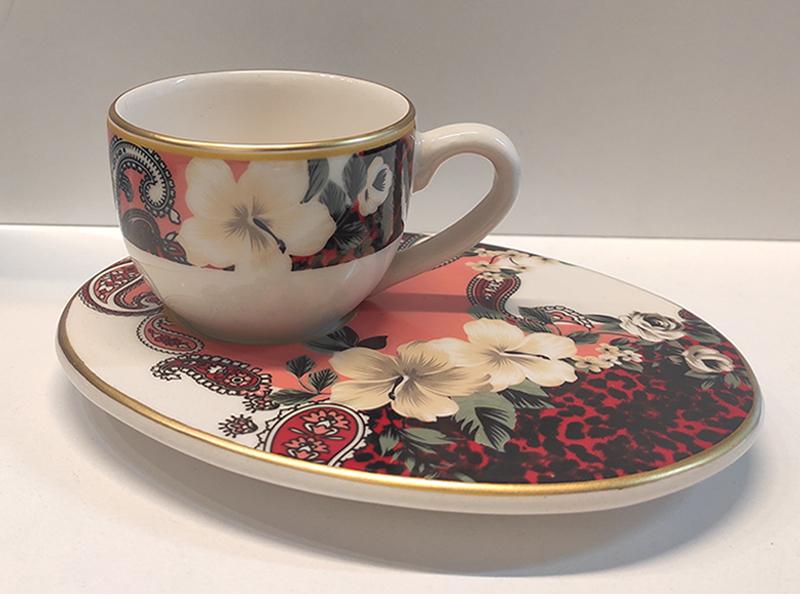 Wındsor Red Flower 6'lı Kahve Fincan Takımı