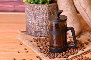 - Zebo French Press 350 ml Siyah Bambum