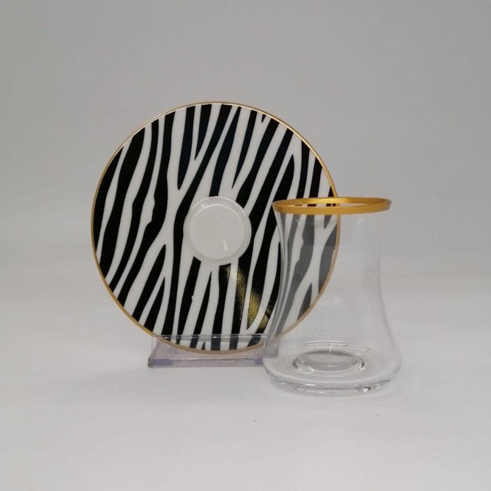 Zebra 6 Kişilik 12 Parça Çay Bardak Takımı