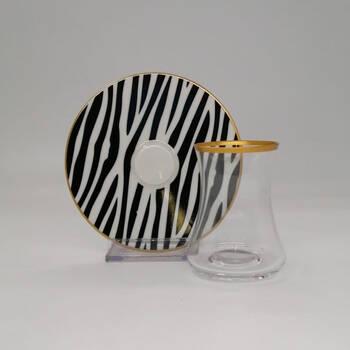 - Zebra 6 Kişilik 12 Parça Çay Bardak Takımı